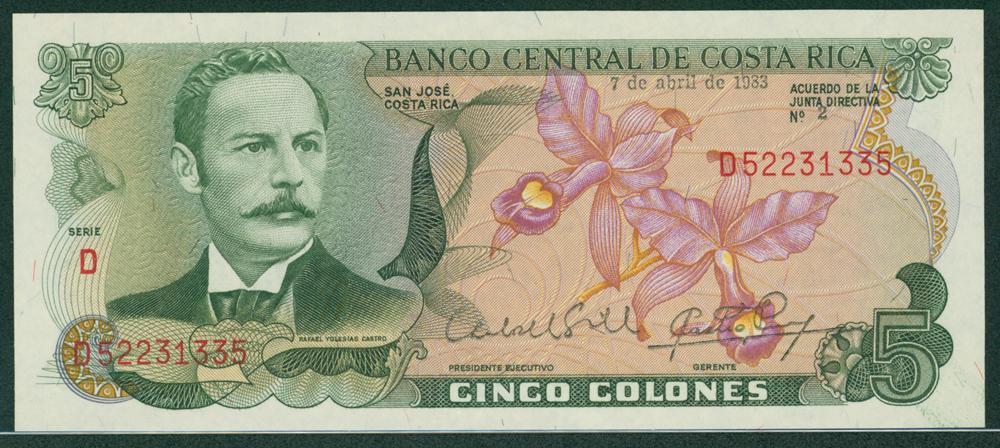 Costa Rica 1983 5 Colonies