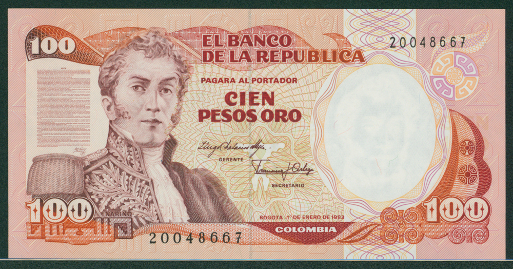 Columbia 1983 100 Peso