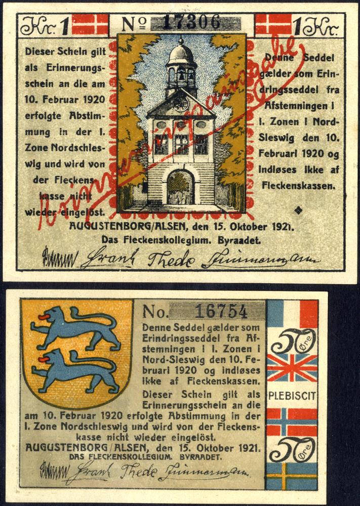 Germany - Notgeld 1920 Augustenburg Plebiscite