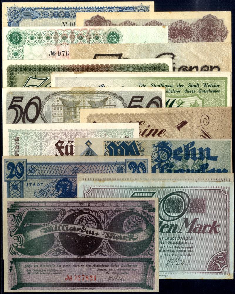 Germany - Notgeld 1923 Wetzlar 500 Thousand - 500 Billion Marks