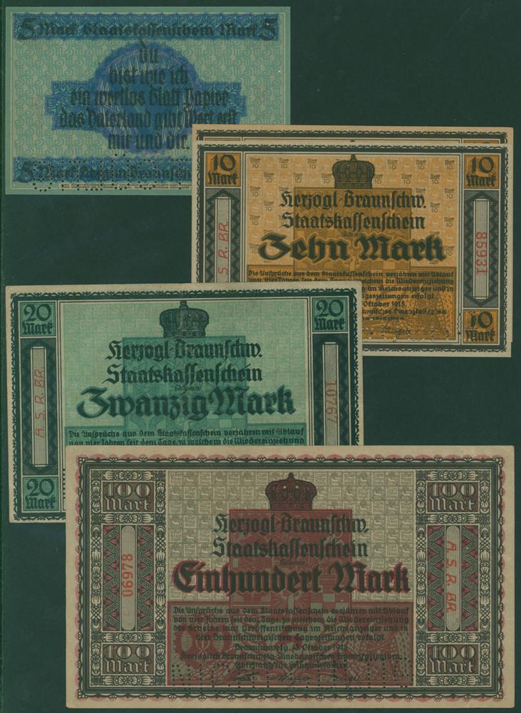 Germany - Notgeld 1918 Braunschweig 5 - 100 Marks