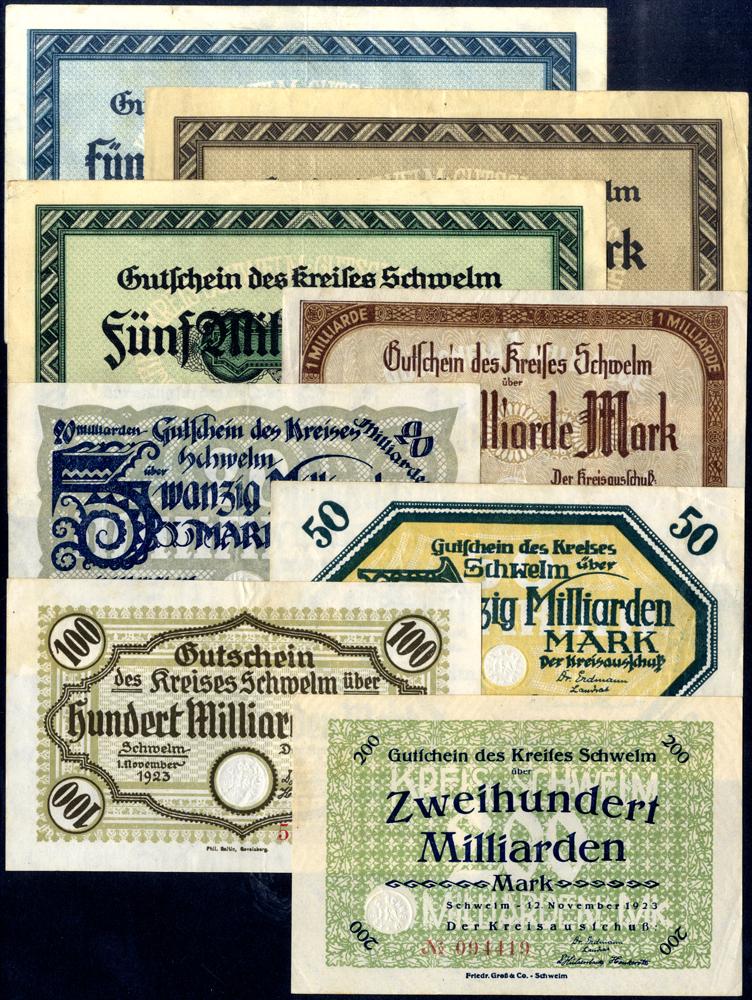 Germany - Notgeld 1923 Schwelm 500 Thousand - 200 Billion Marks