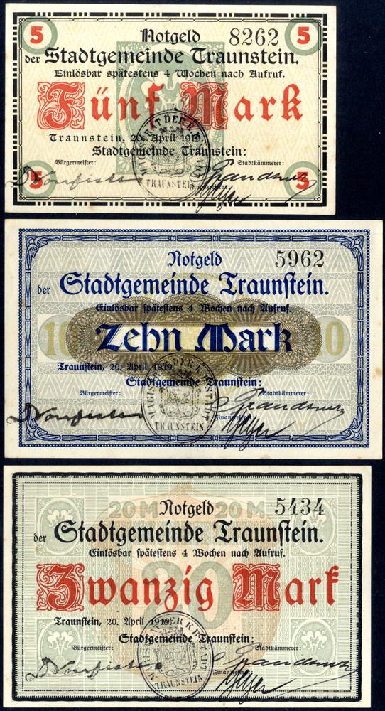 Germany - Notgeld 1918 Traunstein 5 - 20 Marks
