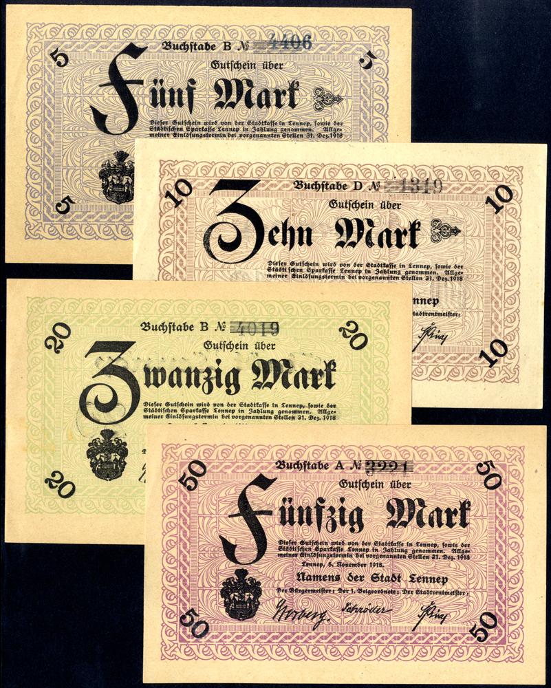 Germany - Notgeld 1918 Lennep 5 - 50 Marks