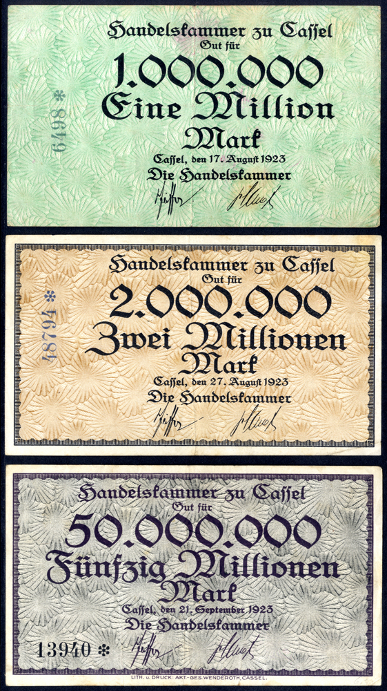 Germany - Notgeld 1923 Caffel 1 Million - 50 Million Marks