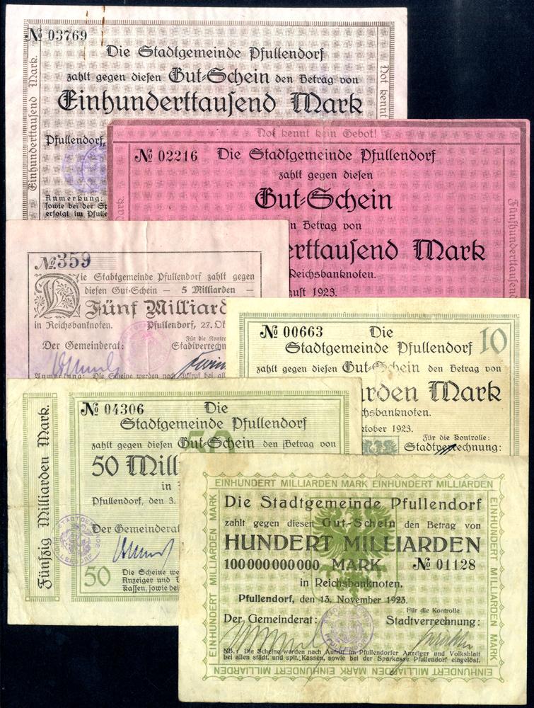 Germany - Notgeld 1923 Pfullendorf 100 Thousand - 100 Billion Marks