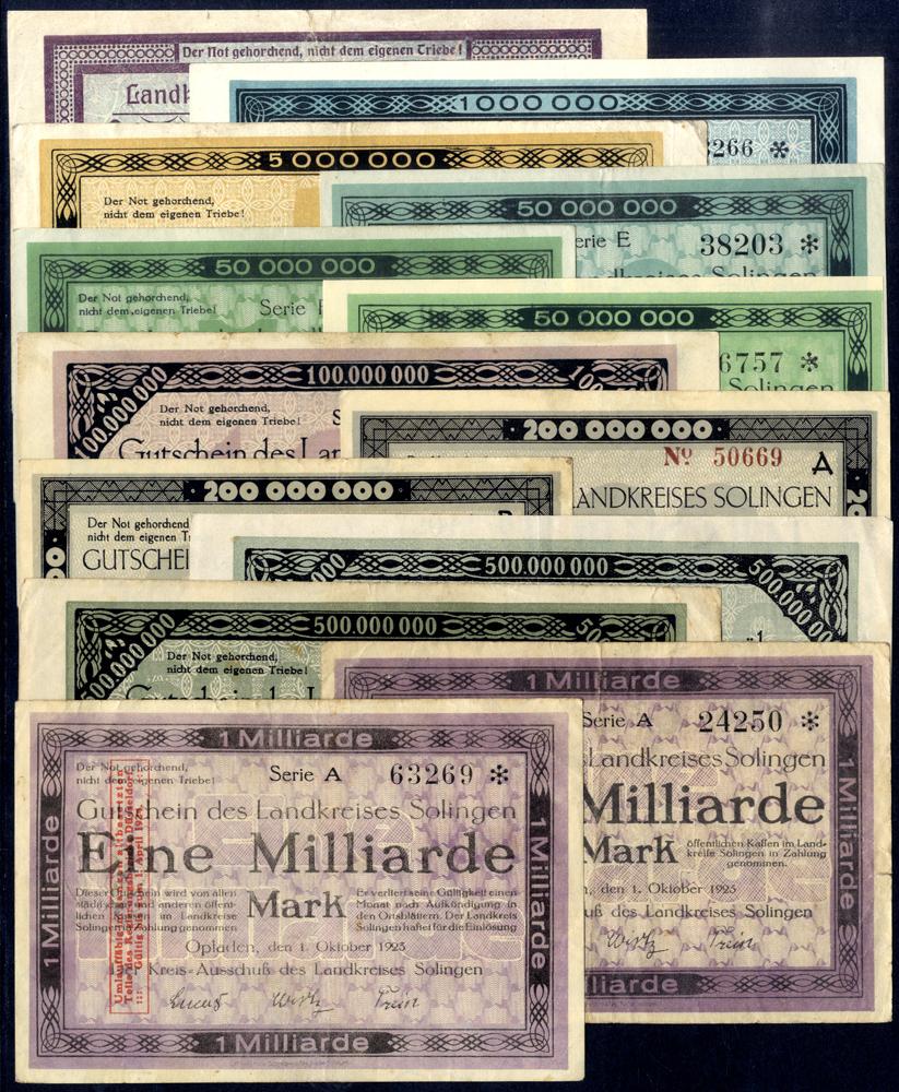 Germany - Notgeld 1923 Opladen 500 Thousand - 1 Billion Marks