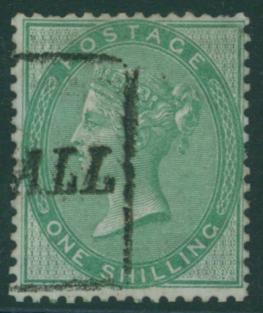 1856 Wmk Emblems 1s deep green