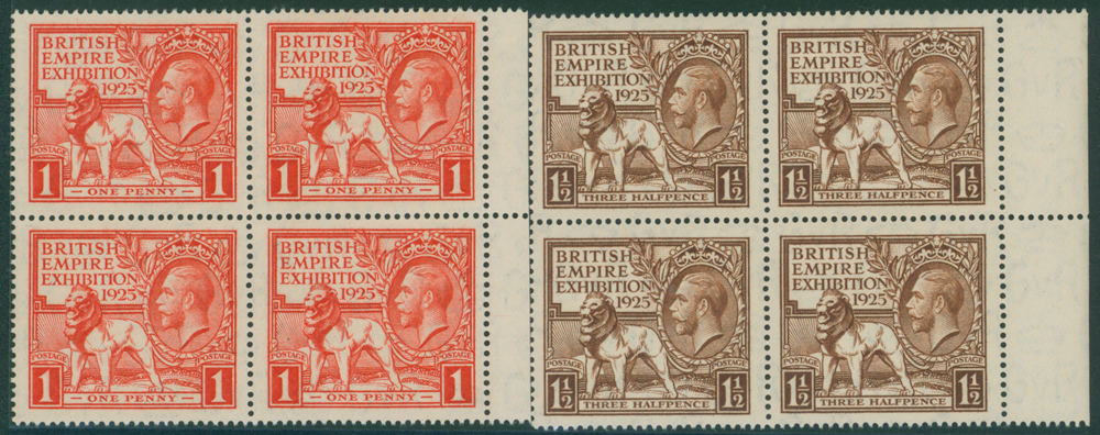 1925 Wembley set in UM blocks of four