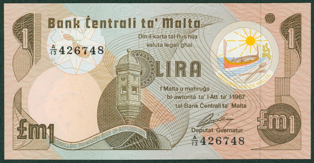 Malta 1967 1 Lira