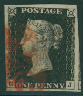 1840 1d black Plate 4 GJ