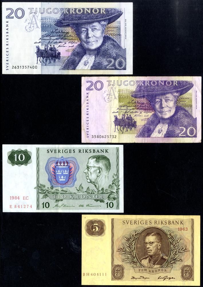 Sweden 5, 10 & 20 Kronor