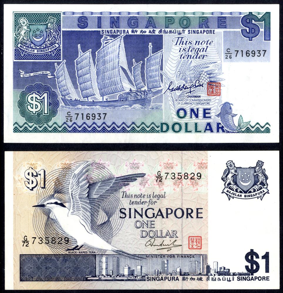Singapore 1976-87 1 Dollar