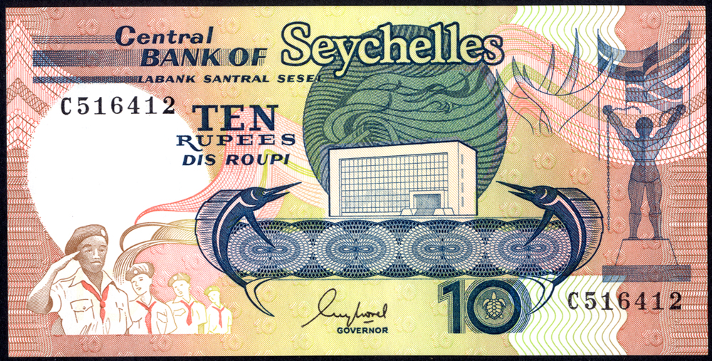 Seychelles 1989 10 Rupees