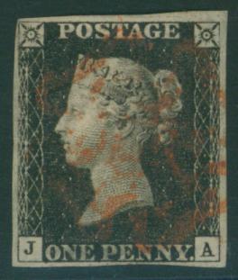 1840 1d black Plate 4 JA