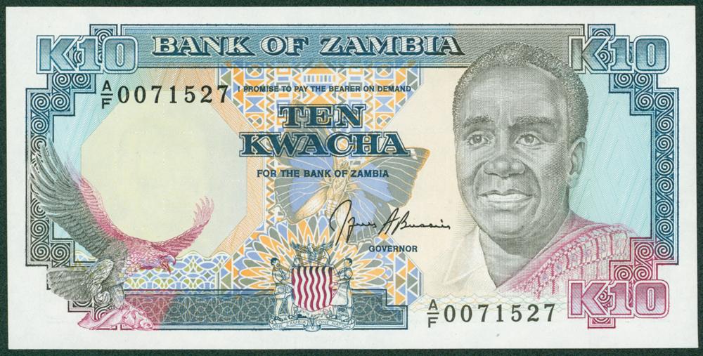 Zambia 1989-91 10 Kwacha