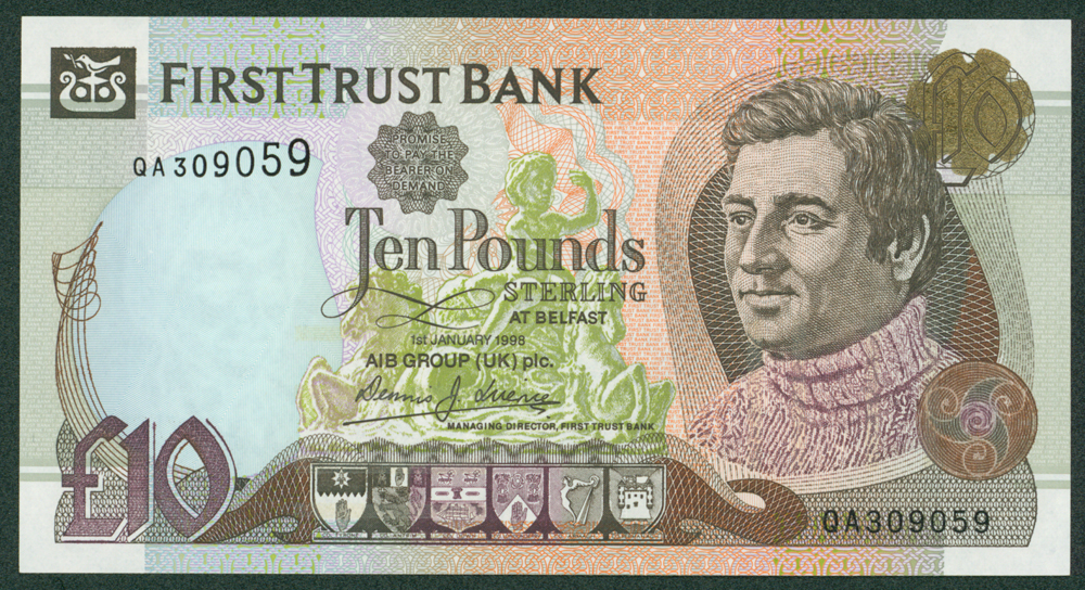 Northern Ireland 1998 First Trust Bank £10