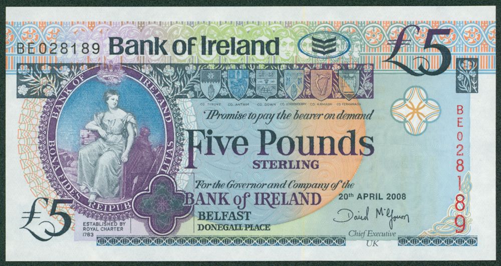 Northern Ireland 2008 £5