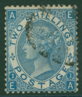 1867 Wmk Spray 2s deep blue, FINE USED
