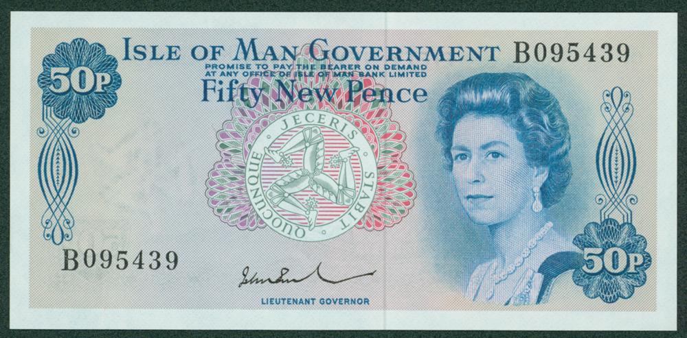 Isle of Man 1972 50 New Pence