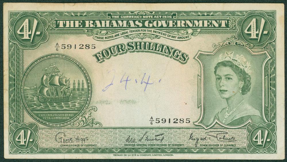 Bahamas 1953 4 Shillings