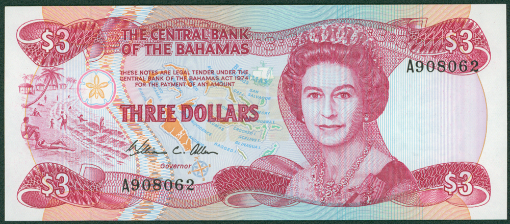 Bahamas 1984 $3