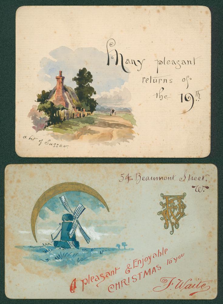 c1900 Birhtday greetings & christmas cards