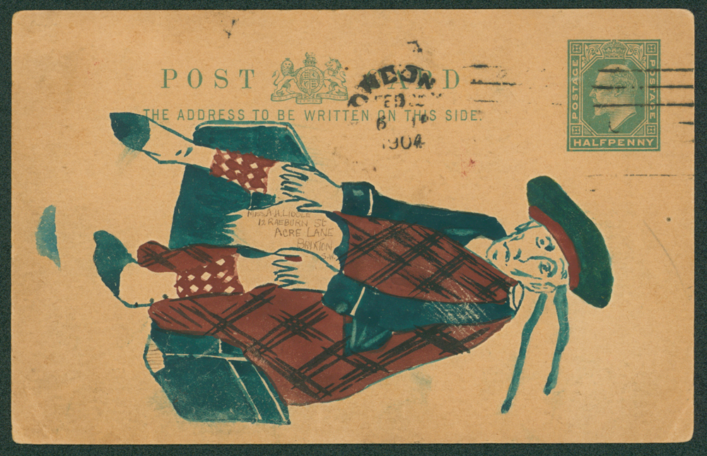 1904 Edwardian ½d stationery card from Dalston to Brixton