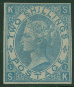 1867 2s blue Imprimature lettered SK