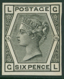 1878 6d Playte 16 Imperforate Plate Proof