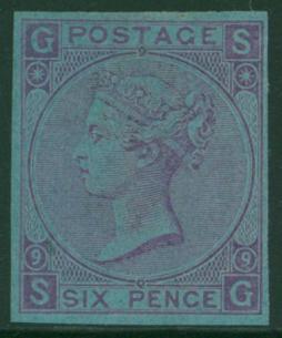 1870 6d mauve Plate 9