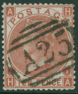 MALTA 1867 10d red-brown