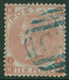 CHILE-CALDERA 1867 10d red-brown