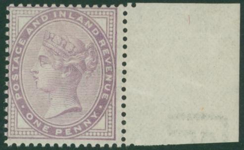 1881 1d lilac Die 1