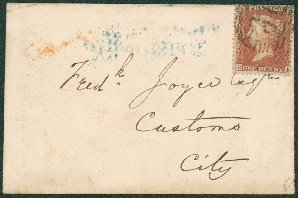 1856 envelope used locally in London