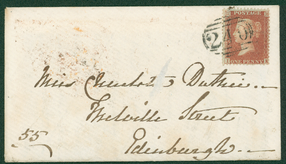 1856 envelope from Deal to Edinburgh
