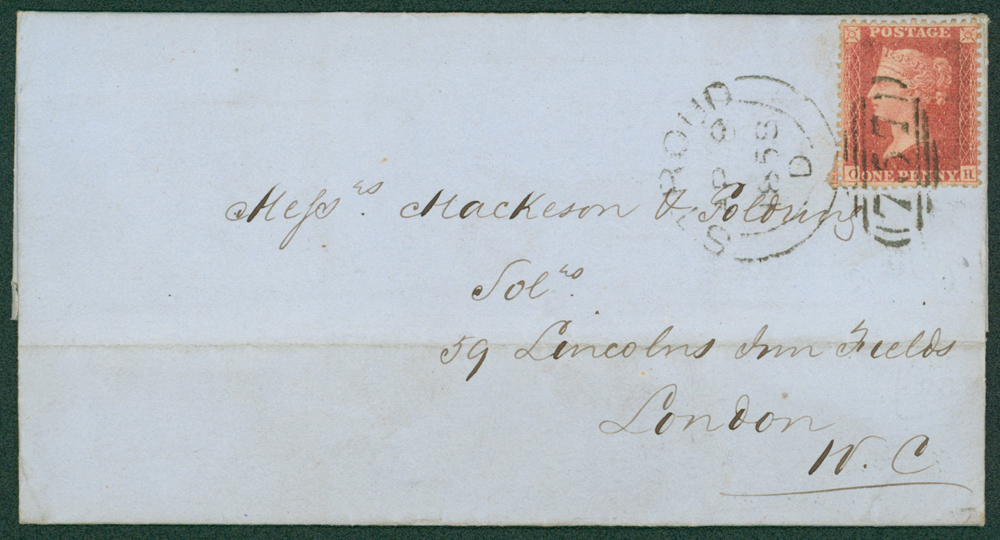1858 cover from Stroud to London