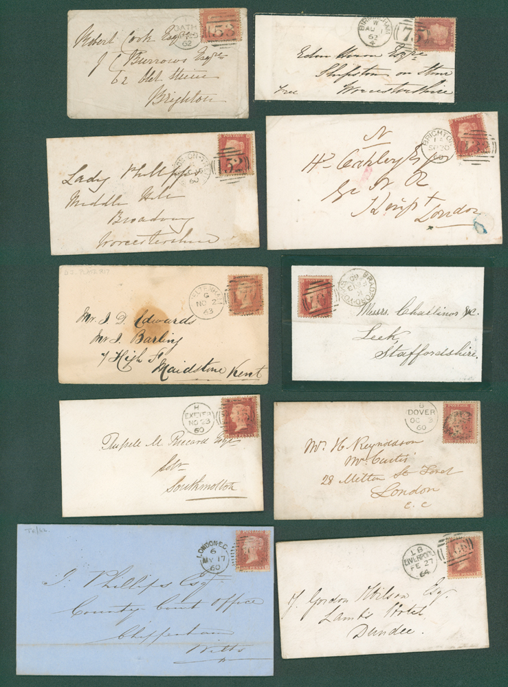 1860-64 1d stars on covers (10 different)