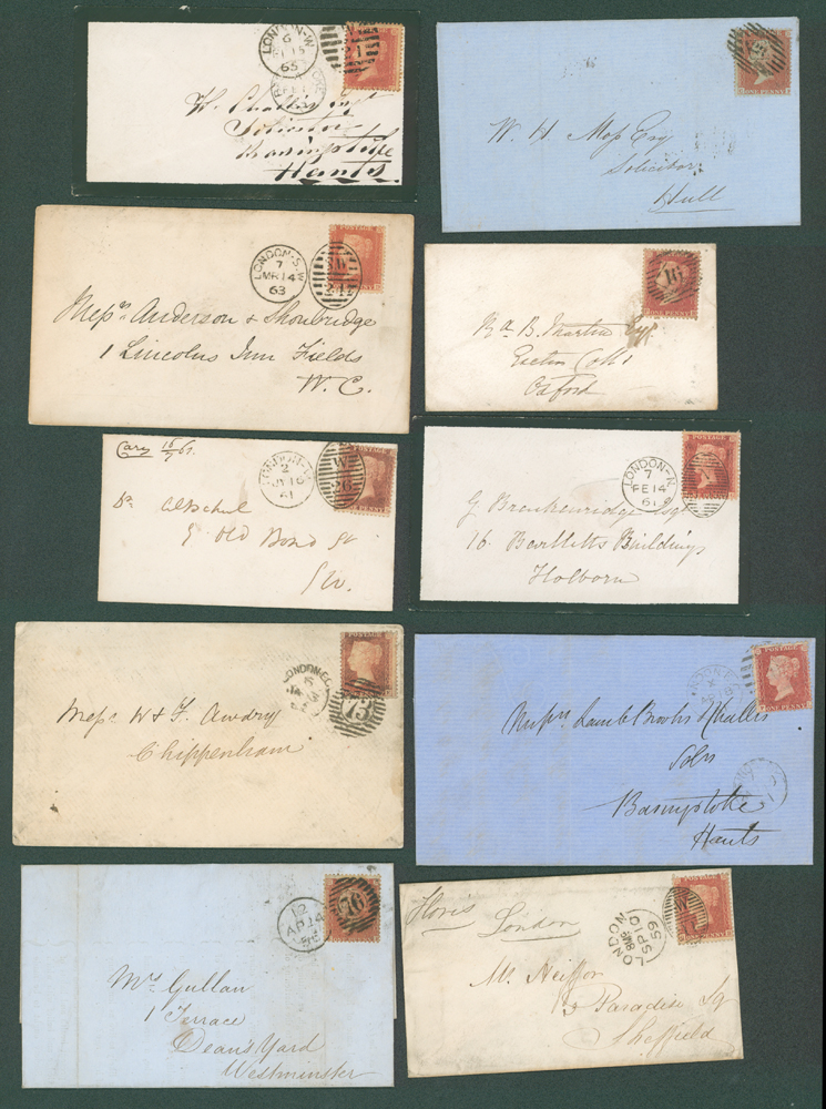 1856-63 1d stars on covers